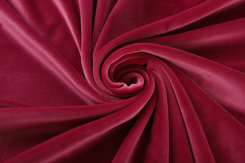 Single side- Rose red Supersoft  fabric
