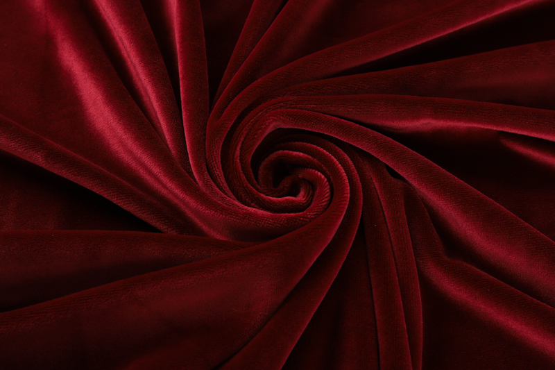 Single side- Dark red  Supersoft  fabric
