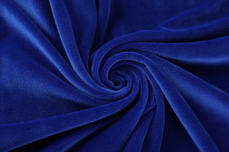 Double sided- Royal blue  Supersoft  fabric