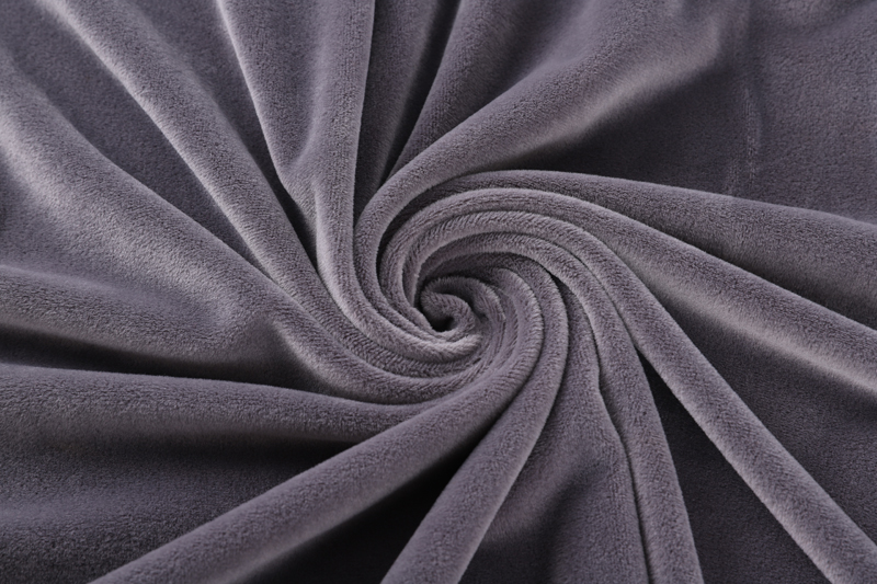 Double sided-  Light gray  Supersoft  fabric
