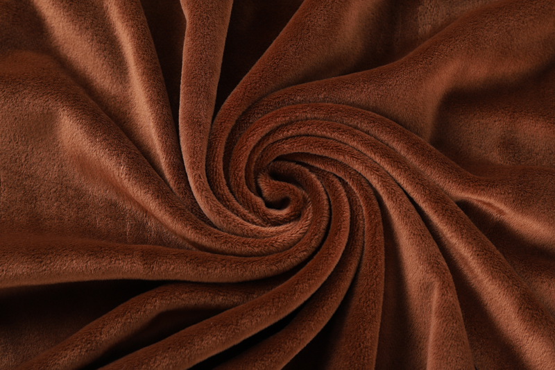 Double sided- Coffee  Supersoft  fabric