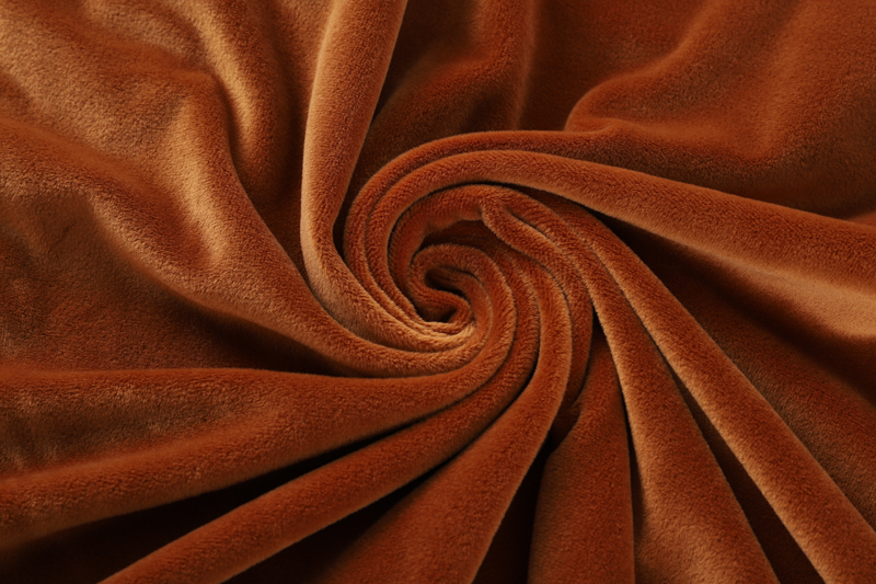 Double sided- Yellow brown  Supersoft  fabric