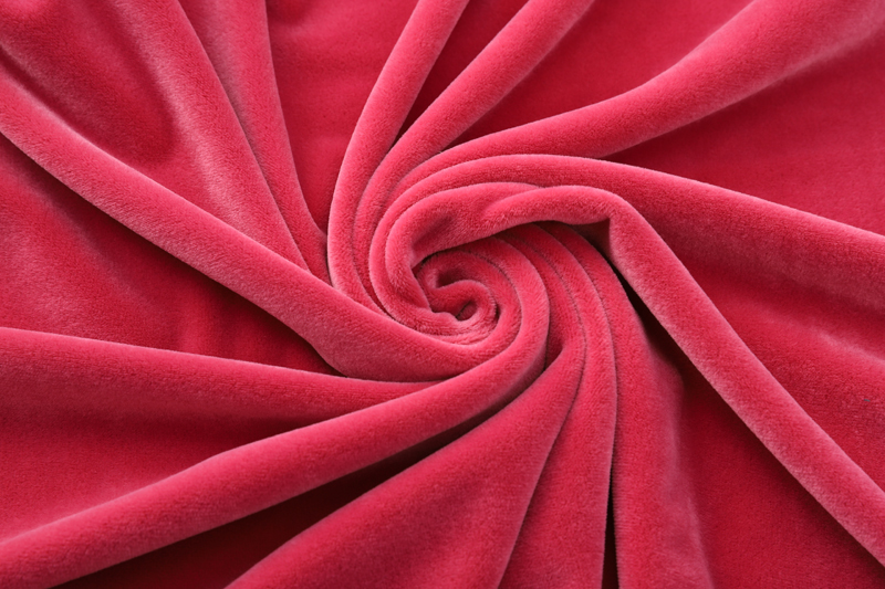 Double sided-  Rose red  Supersoft  fabric