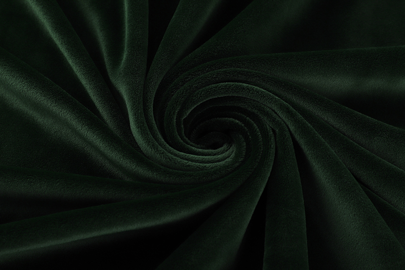 Double sided- Dark green  Supersoft  fabric